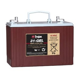 TROJAN 12V - 102Ah - 31XHS GEL - DEEP CYCLE GEL