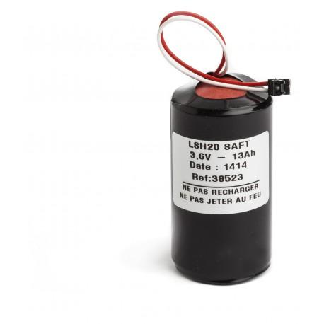 Pile Batterie Alarme Compatible LEGRAND 432 90 - D - LSH20 - Lithium - 3,6V - 13,0Ah + Connecteur NOIR Centrale 432 14