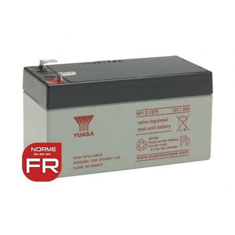 Batterie NP1.2-12FR YUASA - AGM - 12V - 1.2Ah