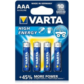 VARTA LR03 - AAA High Energy/Long Life - UM4 - Blister x 4