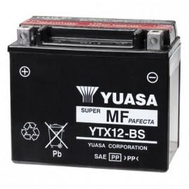 Batterie moto YTX12-BS Yuasa avec pack acide - 12V – 10Ah