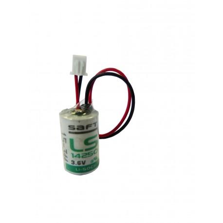 Pile lithium LS14250 - 1/2AA - 3.6V - 1200mAh + Connecteur