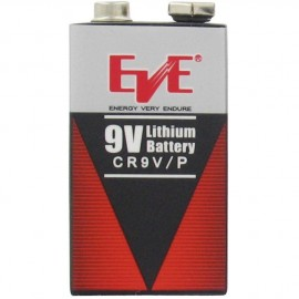 EVE 9V - 1.25Ah - Format 6LR61 - Lithium - CR9V - Lot de 50 piles