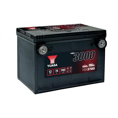Batterie voiture américaine YBX3780 Yuasa - 12V - 74Ah