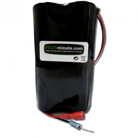 CHRONO Pile Batterie Alarme Compatible SES - 12V - 18Ah + Connecteur