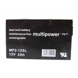 MULTIPOWER 12V - 2.0Ah - MP2-12SL - AGM